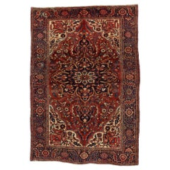 Vintage Persian Heriz Rug with Traditional English Tudor Manor House Style