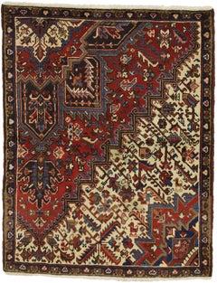 Vintage Persian Heriz Rug with Traditional Modern Style, Wagireh Rug