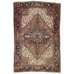 Vintage Persian Heriz Rug with Venetian Renaissance Style