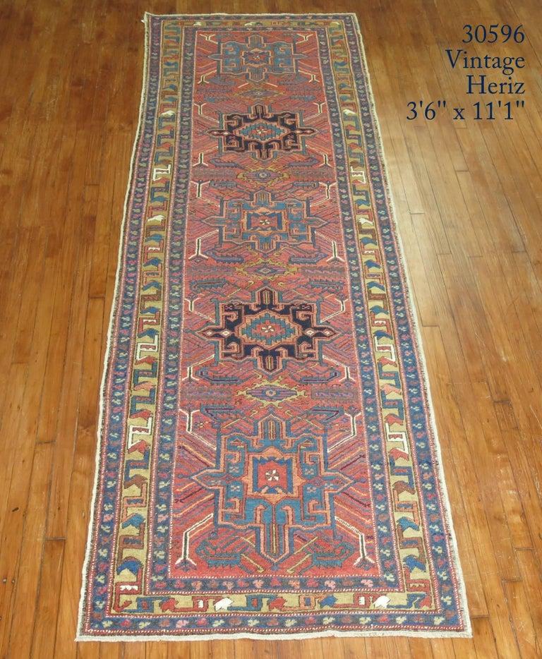 Tudor Vintage Persian Heriz Runner For Sale