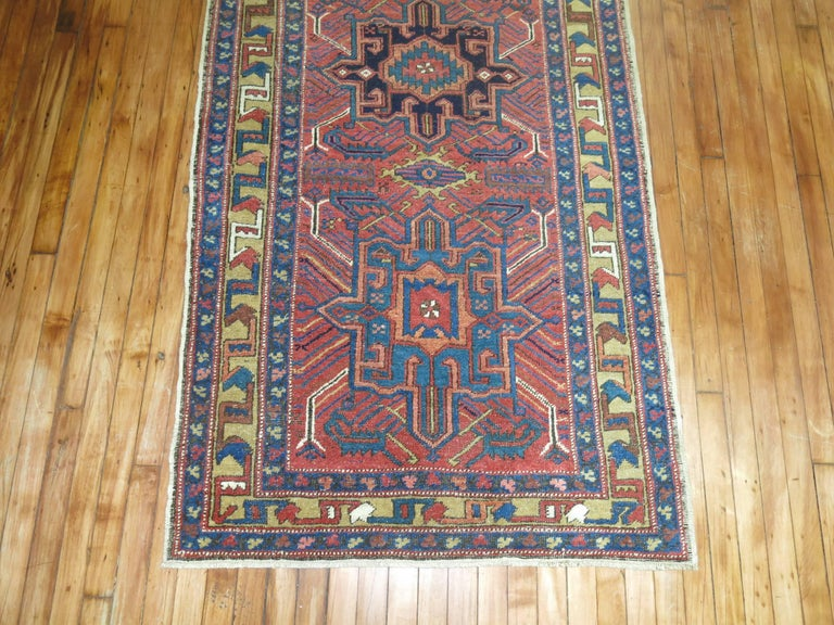 Mid-20th Century Vintage Persian Heriz Runner For Sale