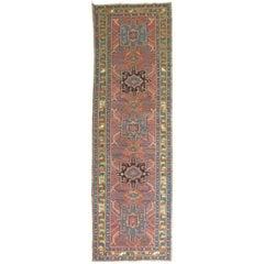 Vintage Persian Heriz Runner