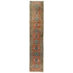 Vintage Persian Heriz Runner  3' x 16'3