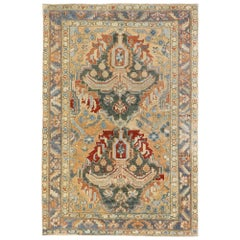 Vintage Persian Heriz Runner with Rustic Italian Cottage Style