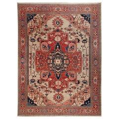 Persian Heriz Style Azeri Carpet