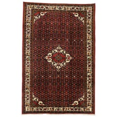 Vintage Persian Hosseinabad Rug with Tudor Manor House Style
