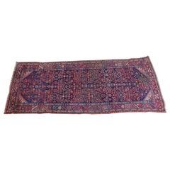 Vintage Persian Hosseinabad Wool & Cotton Iran Area Rug Runner Carpet