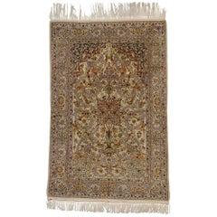 Vintage Persian Isfahan Prayer Rug
