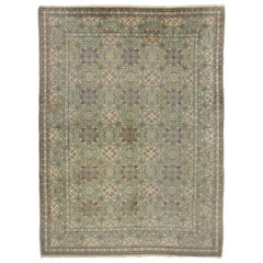 Vintage Persian Isfahan Rug with Gustavian Grace and Georgian Style