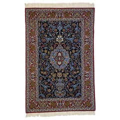 Vintage Persian Isfahan Rug with Victorian Art Nouveau Style