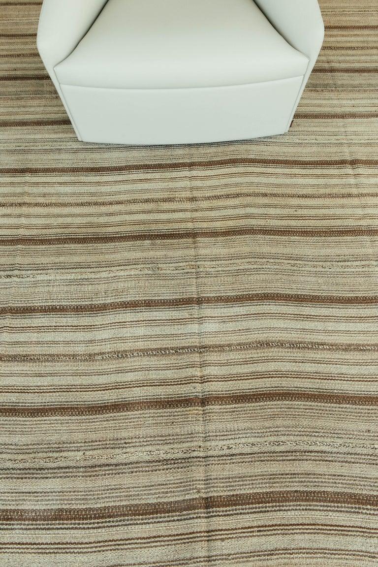Vintage Persian Jejim Kilim Flat-Weave Rug For Sale 2