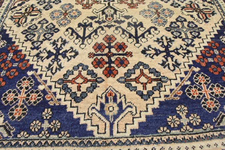 Hand-Knotted Vintage Persian Joshegan Rug with Modern Italian Farmhouse Style For Sale