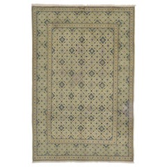 Vintage Persian Kashan Area Rug with Swedish Cottage Gustavian Style