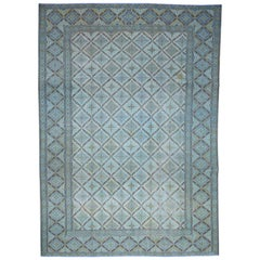 """Vintage Persian Kashan Even Wear Hand-Knotted Oriental Rug, 8'10"""" x 12'6"""""""