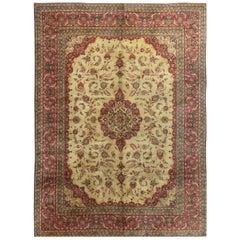 Vintage Persian Kashan Rug Carpet, circa 1920 10'3 x 13'10.
