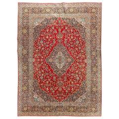 Vintage Persian Kashan Rug, 10'4 x 14'5