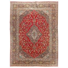 Vintage Persian Kashan Rug  10'4 x 14'5