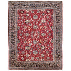 Vintage Persian Kashan Style Allover Design