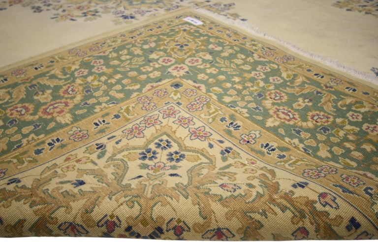 Vintage Persian Kerman, Persian Kirman Area Rug In Excellent Condition For Sale In Dallas, TX
