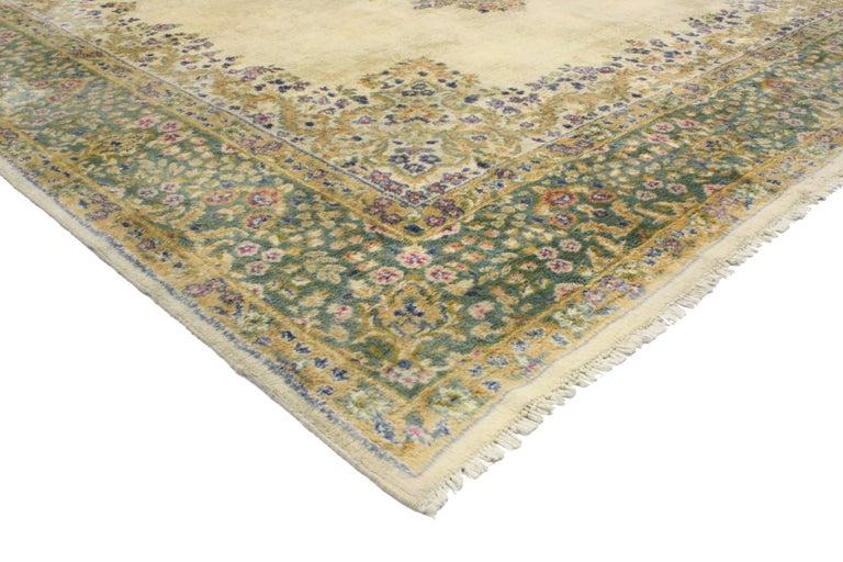 20th Century Vintage Persian Kerman, Persian Kirman Area Rug For Sale