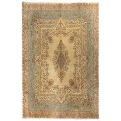 Vintage Persian Kerman Rug, Soft Merino Wool, Beautiful Colors, 11.2 x 13.6 Ft