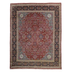 Vintage Persian Kerman Rug with Traditional English Manor Style