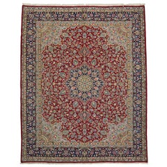 Vintage Persian Kerman Rug with Old World French Victorian Style, Kirman Rug