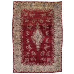 Vintage Persian Kerman Rug with Victorian Style