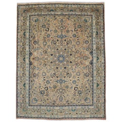 Vintage Persian Khorassan Rug with Traditional Style