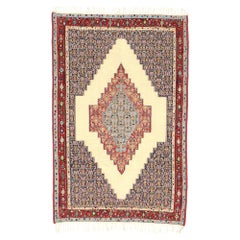 Vintage Persian Kilim Rug with Modern Rustic Tribal Adirondack Lodge Style