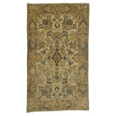 Vintage Persian Kirman Rug, Persian Kerman Rug with Traditional Style