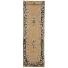 Vintage Persian Kirman Runner with Romantic Georgian and Rococo Style
