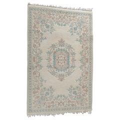 Vintage Persian Kirman Style Floral Wool Oriental Rug, circa 1950