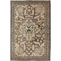 Vintage Persian Lilihan Rug