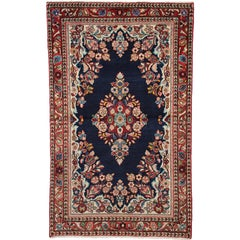 Vintage Persian Mahal Accent Rug with English Country Cottage Style