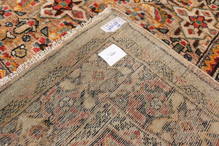 Vintage Persian Mahal Area Rug with Eclectic Modern Northwestern Style In Good Condition For Sale In Dallas, TX