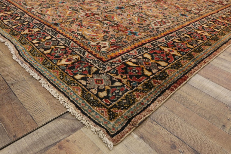 20th Century Vintage Persian Mahal Area Rug with Eclectic Modern Northwestern Style For Sale