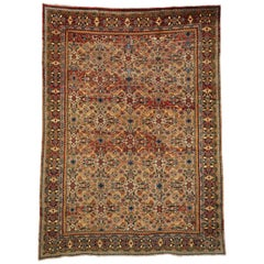 Vintage Persian Mahal Area Rug with Eclectic Northwestern Style