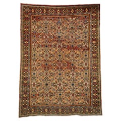 Vintage Persian Mahal Area Rug with Eclectic Modern Northwestern Style