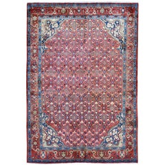 """Vintage Persian Mahal Exc Cond Pure Wool Hand Knotted Oriental Rug, 5'5"""" x 7'10"""""""