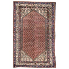 Vintage Persian Mahal Rug, Entry or Foyer Rug