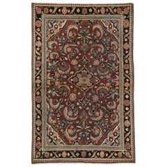 Vintage Persian Mahal Rug with English Traditional Style