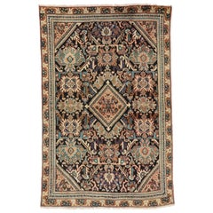 Vintage Persian Mahal Rug with Traditional Style Kitchen, Foyer or Entry Rug