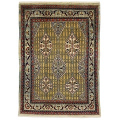 Vintage Persian Mahal Rug with Modern Retro Art Deco Style