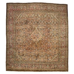 Vintage Persian Mahal Rug with English Country Cottage Style
