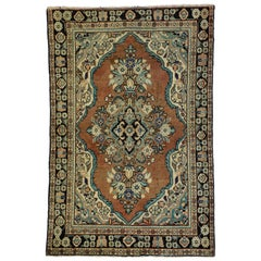 Vintage Persian Mahal Rug with Rustic English Country Cottage Style