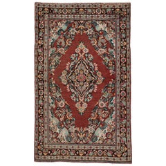 Vintage Persian Mahal Rug with Rustic English Country Style