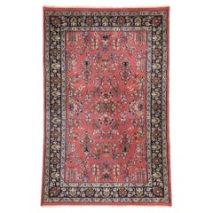 Vintage Persian Mahal Rug with Sarouk Floral Design and Victorian Style