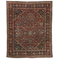 Vintage Persian Mahal Rug with Traditional American Colonial Style