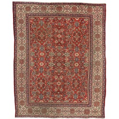 Vintage Persian Mahal Rug with Federal Style
